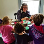 Christmas crafts with young visitors